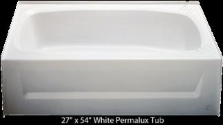 Bathtub 27 x 54 White Permalux  Tub Left Hand Drain