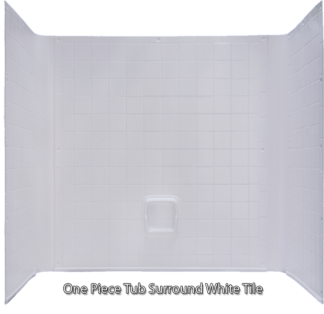 "Better Bath Tub  1 piece Surround Tile Finish White 27"" x 54"""
