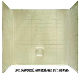 "Better Bath  1 piece Surround Tile Finish 30"" x 60"" Almond Tub"