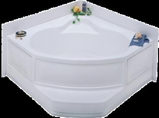 "White Corner Tub R/H Drain Permalux Finish 54""x 54"" With Apron"