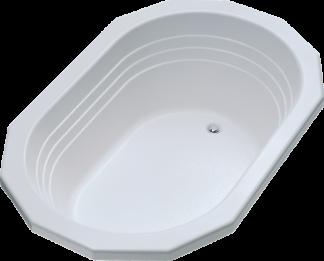 Better Bath White Ophelia Oval Drop-in Island Tub Permalux 42x64