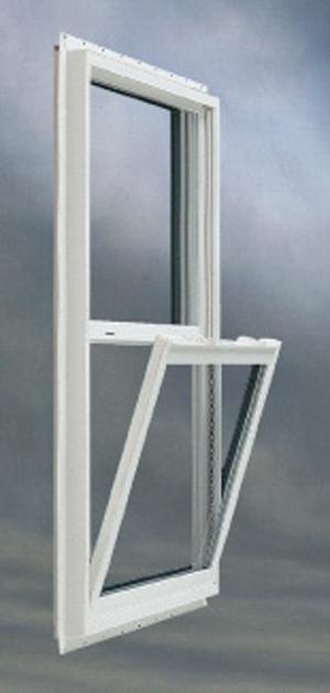 Window White Vinyl Single Hung Tilt Open W(14in.) X H(27in.)