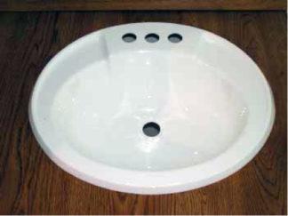 "Oval Plastic Bath Sink White  17"" x 20"""