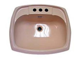 Rectangular Ivory Plastic Bathroom Sink 17 x 20