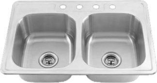 """Stainless Steel Kitchen Sink 33 x 19 x 8"""""""