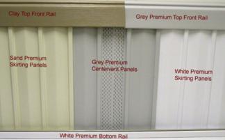 Premium Vinyl Skirting plus c-vent panel tan Style Crest