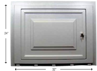 Access panel door track mount Style Crest