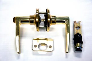 Lever Lock and Deadbolt Polished Brass