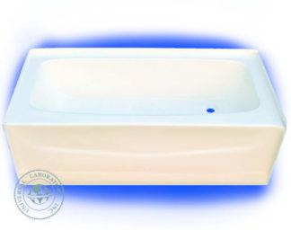 Fiberglass Bathtub 27 x 54 Left Hand Drain Bone Finish