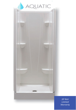 """Acrylic Surround for 32"""" x 32"""" White Shower Pan"""