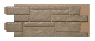 Novik Vinyl  canyon grey stone panels sold 10/ctn.