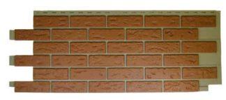 Novik Vinyl Used Red Blend Brick Panel sold 10 to a carton