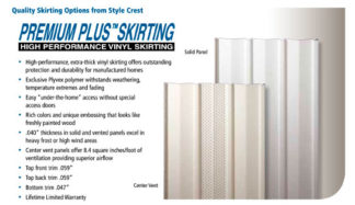 "Pre-cut 35"" White Premium Vented Skirting Panels"