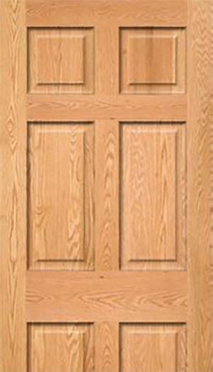 28 x 78 raised 6 pnl oak finish interior door mobile home parts pro